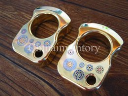 $enCountryForm.capitalKeyWord Canada - Brass Mini EDC Key Accessory Singe Finger Knuckle Duster   Tiger Finger   Punch CNC Machined with Handmade Mosaic 140g pc Polished Surface