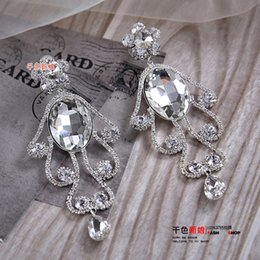 silver chains for sale cheap UK - Hot Sale Crystal Bead CZ Diamond Wedding Earrings Silver Sterling Stud Earring For Women Wedding Accessories Pageant Jewelry Eardrop Cheap
