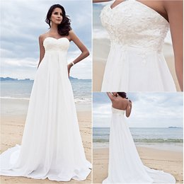 $enCountryForm.capitalKeyWord Australia - 2016 New Fashion Popular Free Shipping Elegant Ivory Sweep Brush Train Sweetheart Beads Chiffon Sheath Beach Wedding Dresses 270