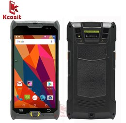 2d Laser Canada - Wholesale- Kcosit 1D 2D Laser Barcode Android 6.0 Scanner IP67 Waterproof Phone PDA Handheld Terminal Data Collector inventory Logistics