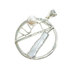 $enCountryForm.capitalKeyWord NZ - Sterling silver pendant with double fresh water pearl in fashion design with free shipping for women for N8033P