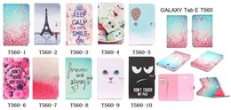 China Wallet Leather Australia - Fashion Cute cartoon wallet with card slot leather stand case cover for samsung GALAXY Tab E 9.6 T560 SM-T560
