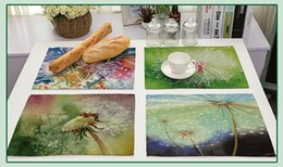 Free kitchen supplies online shopping - Dandelion Pattern Table Mat Colorful Wedding Supplies Europe Fashion Table Placemat Dining Accessories Kitchen Decoration