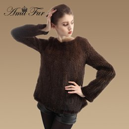 Discount Ladies Knitted Mink Fur Coats | 2017 Ladies Knitted Mink ...