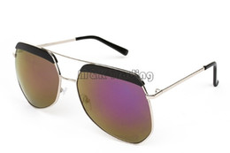 9a1a431243 Hot Sale Cool Sunglasses For Men Grey Ant Fashion Sunglass Colorful Mirror  Lenses Metal Polygon Eyeglasses Frame