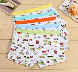Sous-vêtements Pour Enfants Modal Pas Cher-Garçons Sous-vêtements Panties Voitures Enfants Shorts Pantalons Modal Baby Boy Boxer Underpants Briefs Underwear Enfants 10pcs beaucoup