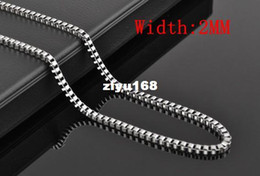 """$enCountryForm.capitalKeyWord Canada - Fashion Jewelry Wholesale 10pcs 2MM Sterling silver 925 Stamp Box chains choker necklace 16""""-24"""" Chr"""