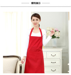 Wholesale aprons dresses resale online - 1 piece pocket women s apron waiter apron barbecue restaurant kitchen cooking aprons working dress x70cm TO279