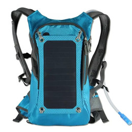 battery slot NZ - High quality 5V Solar Panel Battery Charging Business Travel Backpacks Tourism Outdoor Climbing USB Output Charger Backpack