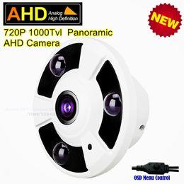 Indoor Hd Cctv Camera Canada - 360 Degree View CCTV Indoor Home Security Analog HD Surveillance Panoramic Camera 1.0MP 720P Fisheye Infrared Dome AHD Camera
