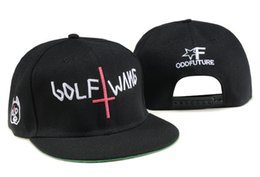 045085f9612 New fashion odd Future Golf Wang Snapback letter baseball caps Black hats  for men and women hip hop hiphop bboy cap TYMY