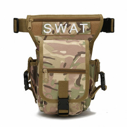 drop sport bag Canada - Outdoor Waterproof Tactical Stylish Military Solid Utility Thigh Pouch Waist Belt Pouch Sports Drop Leg Bag