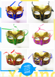 Glitter Masquerade Canada - mix 6 colors Party Mask With Gold Glitter Mask Venetian Unisex Sparkle Masquerade Venetian Mask 12pcs
