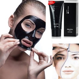 Face Resist Mask Canada - Pilaten Black Mask Deep Cleansing Face Mask Tearing Style Resist Oily Skin Strawberry Nose Acne Remover Black Mud Masks 60g free shipping DH