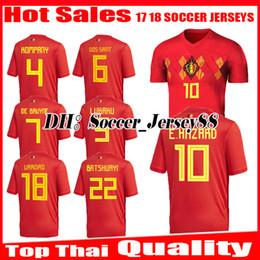 2018 2019 world cup Belgium top thai quality Soccer Jersey 18 19 LUKAKU  FELLAINI E.HAZARD KOMPANY DE BRUYNE football uniforms jerseys shirt e1c8d5a88