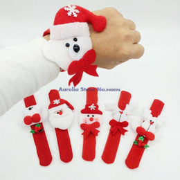 2017 child hair ornament 2016 Time-limited Cloth None Cartoon Navidad Christmas Decorations Patting Circle Children Gift Santa Claus Snowman Deer New Year Party Toys cheap child hair ornament