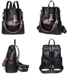 Discount korean bow bags - Backpack shoulder bags wholesale Multifunctional bag original designer classical embroidery handbag artwork women purse
