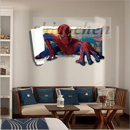 Spiderman Wall Mural discount spiderman wall mural stickers | 2017 kid wall stickers