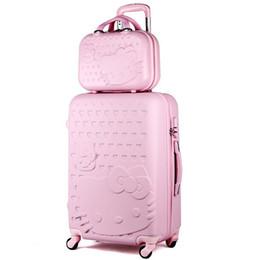 9b833b51d 20inches Hello Kitty Boarding maleta de viaje, mujeres de alta calidad  Rugged ABS Wheels Trolley