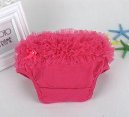 $enCountryForm.capitalKeyWord Canada - 45pcs Baby Ruffled Knit Bloomers Ruffles Pettiskirt Panties Girls RUFFLED Bloomer Girl PP Wave Dress PP001