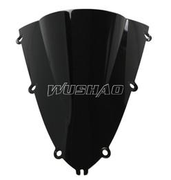 $enCountryForm.capitalKeyWord UK - Motorcycle Double Bubble Windshield WindScreen For 1998-1999 Yamaha YZF 1000 R1 98 99 Black