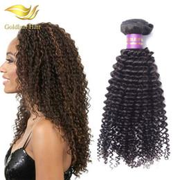 Peruvian gold hair online shopping - Malaysian Virgin Hair Gold Leaf Kinky Curly Pc Brazialin Hair Bundle Peruvian Brazilain Indian Virgin Hair Extensions