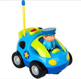 2017 nuevo coche de carreras de dibujos animados de RC con figura de acción, juguete de control de radio con música para niños pequeños