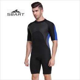 7e3bb24495c Sbart traje corto para hombre de 2 mm de una sola pieza Espesar térmica  invierno natación protector contra saltos para bucear buceo de surf