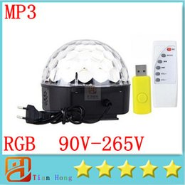 crystal magic ball disco UK - RGB MP3 Magic Crystal Ball LED Music stage light 18W Home Party disco DJ party Stage Lights lighting + U Disk Remote Control lamp