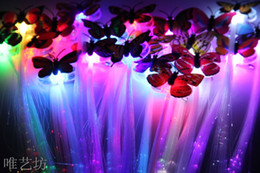 $enCountryForm.capitalKeyWord NZ - Emitting luminous flash fiber braid braids colorful butterfly birthday party entertainment performances props