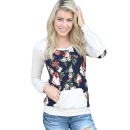 $enCountryForm.capitalKeyWord UK - Women Sweatshirt Plus-size Outwear O Neck Casual Loose Fashion Floral Long Sleeve Top Blouse Jumper Pullovers White
