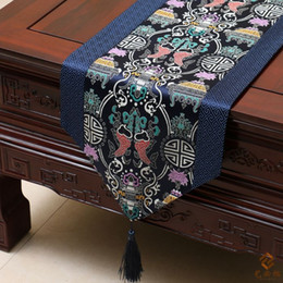 chinese decorative knots NZ - Classic Chinese knot Luxury Patchwork Wedding Party Table Runners Damask High End Decorative Rectangle Pisces End Table Cloth