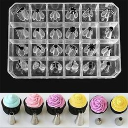 $enCountryForm.capitalKeyWord NZ - Wholesale- 24 PCS Set Icing Piping Nozzles Tips Pastry Cake Cup Sugar craft Decorating Tool cake tools A4
