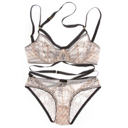 7a372b0cb8f0 Plus size women bra Panty set online shopping - Euramerican Intimates  transparent sexy bra set plus
