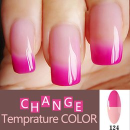 Humeur Changeante Uv Vernis À Ongles Pas Cher-Vente en gros-Changement d'humeur Gel vernis à ongles Long-Lasting tremper-Led UV Gel Laque Chameleon Gel ongles Manucure Vernis