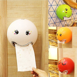 roll storage box Canada - 1pcs Cute Storage Boxes Cartoon Plastic Paper Box Waterproof Ball Shape Towel Tissue Box Toilet Paper Holder Case Organization