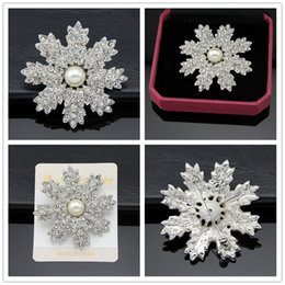 Brooches For Dresses Canada - Alloy Pearl brooch 925 silver plated Real Austria Crystal Brooch Diamond Flowers Brooches Pins For Women Dresses jewelry accessories