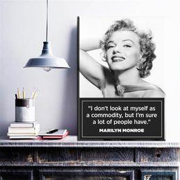 $enCountryForm.capitalKeyWord NZ - 1 Pcs Original Marilyn Monroe Portrait Canvas Art Oil Painting Modern Home Decor Wall Art Poster Pictures For Kid Room No Frame