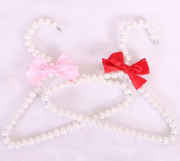 bow hats for dogs Canada - Pet Apparel Accessories New Design Pet Clothes Hanger Cute Bow 20cm Pearl Hat Hanger For Dogs