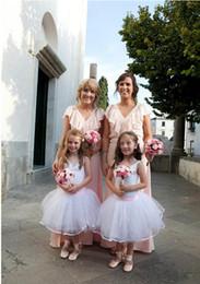 Black White Kids Pageant Dress Canada - White Tutu Flower Girl Dresses Hand Made Flowers Tulle Spaghetti Kids Gowns Special Pageant Children Flower Girls Dress For Wedding