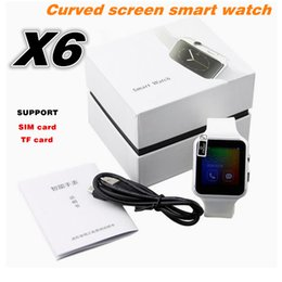 Smart watch phone 1.54 online shopping - New Bluetooth Smart Watch X6 Smartwatch Sport Watch quot Curved Screen Clock Support Camera SIM Card For Android phone