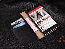 Design Genuine Leather NZ - Purse Design For Samsung Galaxy Note 4 Case Genuine Original Colorful Luxury Flip Wallet Leather Case for Samsung Galaxy Note 4 N9100