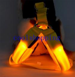 Light Dog Collar Belt Canada - LED Nylon Pet Dog Cat Collar Peppy Dog Led Flashing Light Harness Collar Pet Safety Led Leash Rope Belt