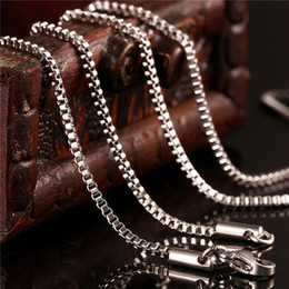 indian boxes 2019 - Popular stainless steel box chain necklace 1.5MM 18-20inches fashion jewelry Top quality factory price free shipping che
