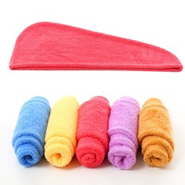 China Superfine Fiber Towel Water Uptake Coral Velvet Dry Hair Shower Cap For Home Bathroom Articles Multi Colors 4ht C R cheap hooded hair drier suppliers