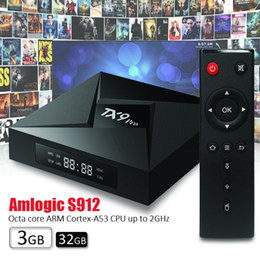 China Cool Android TV Box TX9 pro Amlogic S912 Octa-core TV BOX 3GB 32GB IPTV Android 7.1 Box BT4.1 dual AC WiFi Codi 17.3 pre installed cheap installing tv suppliers