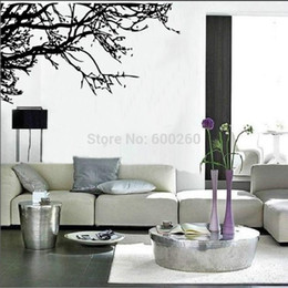 Discount tree branch vinyl wall art - Large Tree Branch Wall Sticker Removable Decal Home Decor Vinyl Art Mural 2015 fashion free shipping hot sales