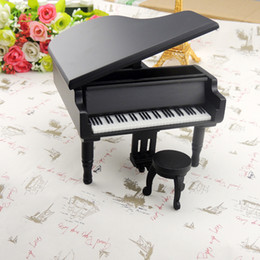 $enCountryForm.capitalKeyWord Australia - New Arrivals Wooden Piano Music Boxes Black Musical Boxes For Gifts