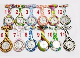 $enCountryForm.capitalKeyWord Canada - Silicone Nurse watch Colorful Prints nurse watches Medical Nurse Watch Cute Patterns Doctor Fob Quarta Watches Pin Watches