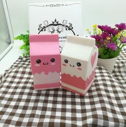 $enCountryForm.capitalKeyWord Canada - 2017 new Cute Jumbo Squishy Phone Straps Milk Box Carton Slow Rising Phone Straps Pendant Sweet Cream Scented Bread Kids Fun Toy Gift